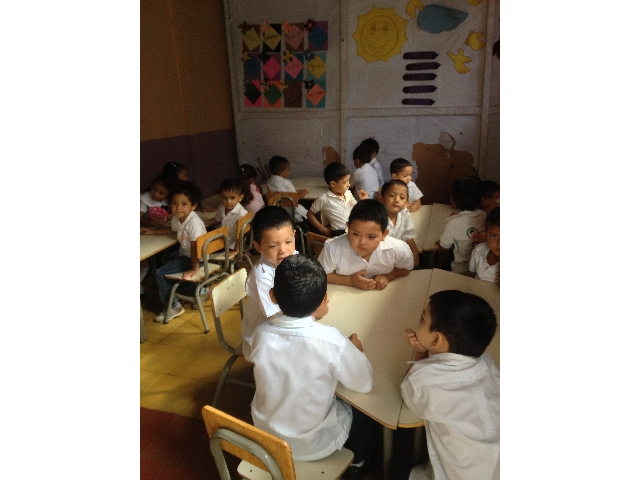 Children in the classrooms